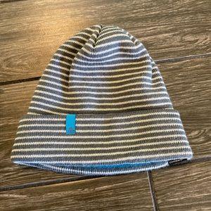 Adidas Climawarm Striped Gray Beanie One Size